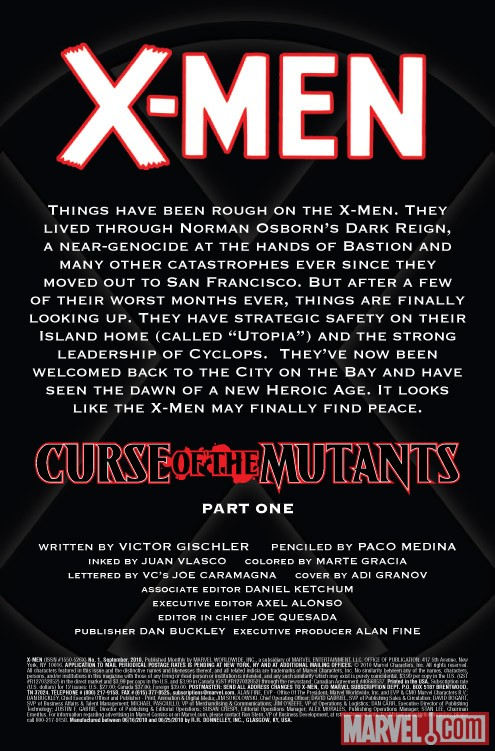 X-MEN #1 recap page