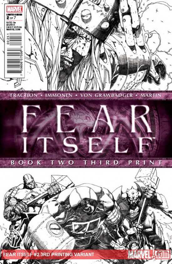 Fear Itself #2 3rd print cover art by Steve Mcniven