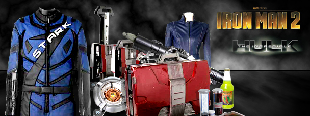 Own Iron Man 2 &amp; Incredible Hulk Props &amp; Costumes