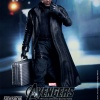 Nick Fury Sixth Scale Figure holding silver suitcase (by Hot Toys)