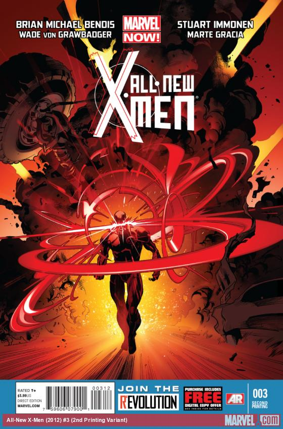 cover from All-New X-Men (2012) #3 (2ND PRINTING VARIANT)