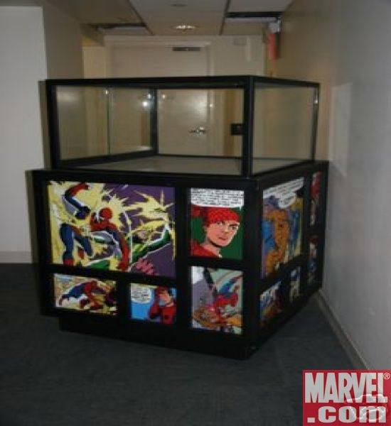 Marvel Mania Restaurant Display Case