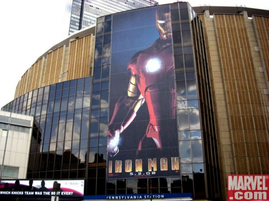 Iron Man guards MSG