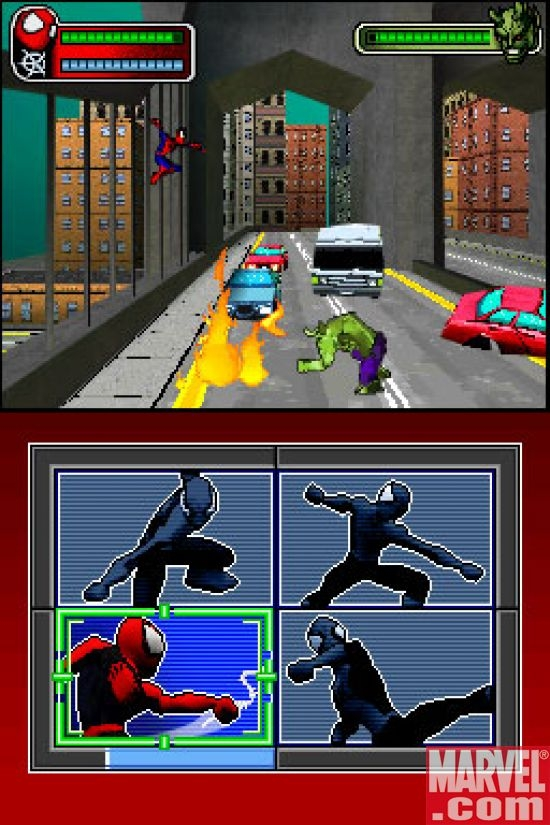 Spider-Man/Green Goblin Bridge Fight, DS