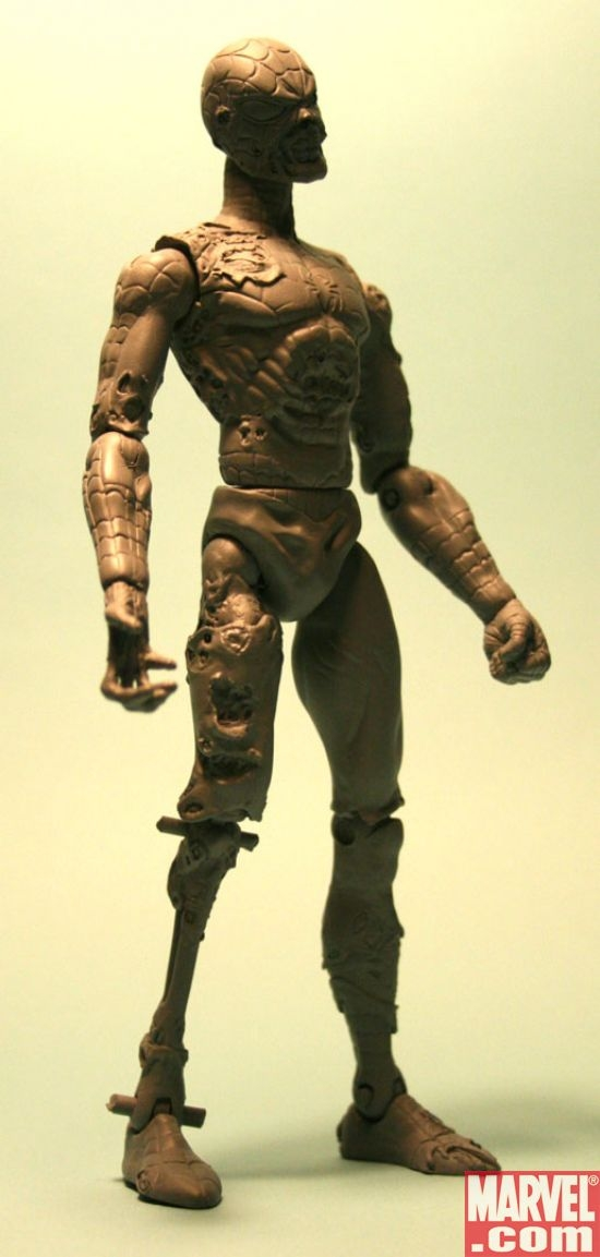 DST Marvel Zombies Spider-Man sculpt (side).