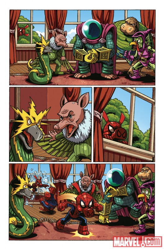 SPIDER-HAM 25TH ANNIVERSARY preview art by Jacob Chabot 5