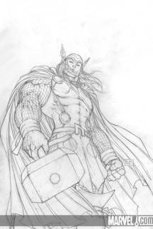 Thor (2007) #1 (Sketch Variant)