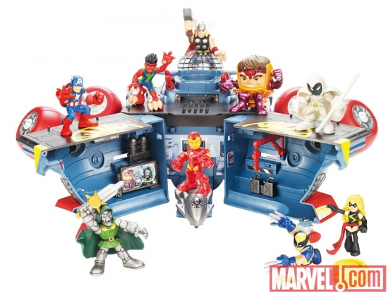 Super Hero Squad Helicarrier Back