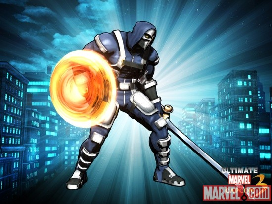 Alternate Taskmaster skin from the Weapon Expert DLC pack for Ultimate Marvel vs. Capcom 3