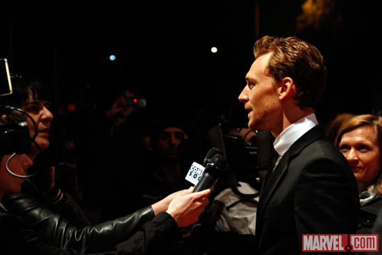 Tom Hiddleston (Loki) at the Rome red carpet premiere of Marvel's The Avengers