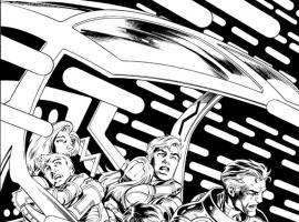 Fantastic Four (2012) #1 preview inks by Mark Bagley