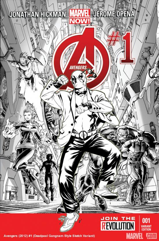 AVENGERS 1 DEADPOOL GANGNAM STYLE SKETCH VARIANT (NOW, WITH DIGITAL CODE)