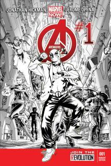Avengers #1  (Deadpool Gangnam Style Sketch Variant)