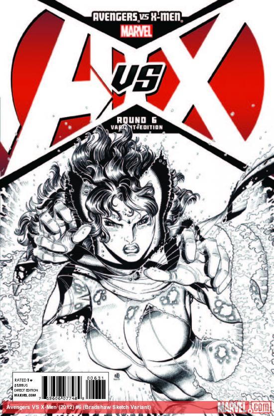 AVENGERS VS. X-MEN 6 BRADSHAW SKETCH VARIANT (1 FOR 200, WITH DIGITAL CODE)