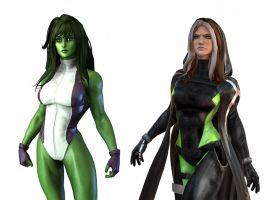 Rogue & She-Hulk in Marvel Heroes 2015