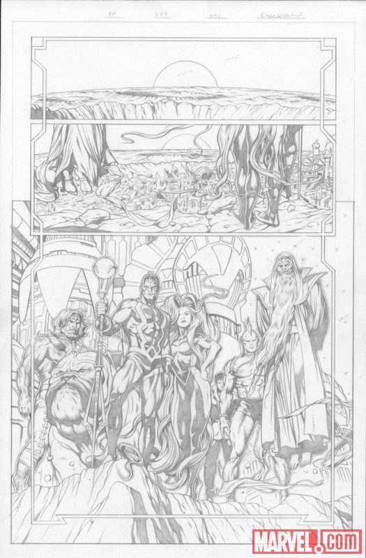 Image Featuring Lockjaw, Medusa, Triton, Black Bolt, Gorgon