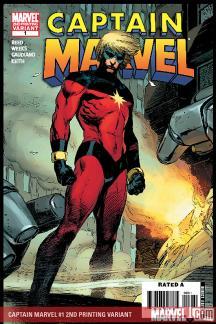 Captain Marvel (2007) #1 (2ND PRINTING VARIANT)