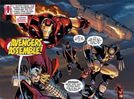 Image Featuring Iron Man, Spider-Man, Thor, Wolverine, Winter Soldier, Avengers