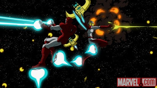Iron Man and the Wasp in The Avengers: Earth's Mightiest Heroes!