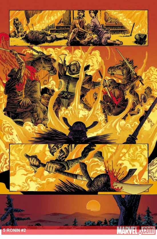 5 Ronin #2 preview art by Dalibor Talajic