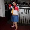 A Sakura cosplayer from the Marvel vs. Capcom 3 Fight Club