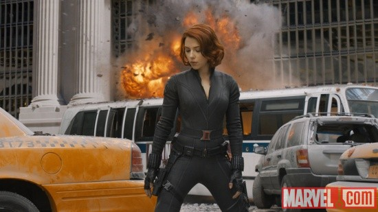 Scarlett Johansson stars as Black Widow in Marvel's The Avengers