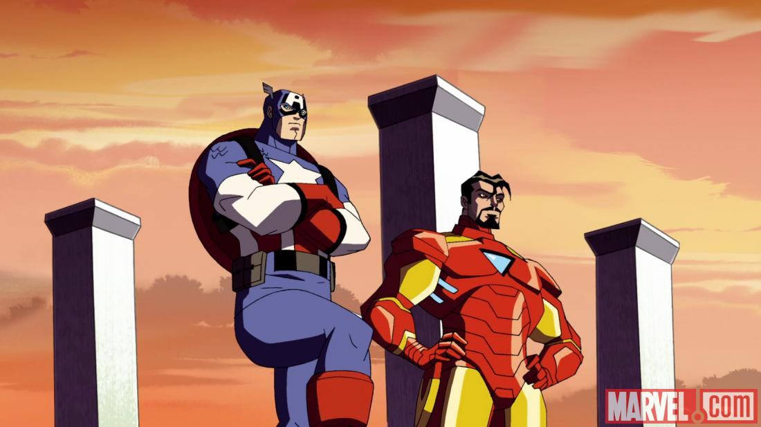 Screenshot of Iron Man and Captain America from AEMH Season 2, Ep. 19