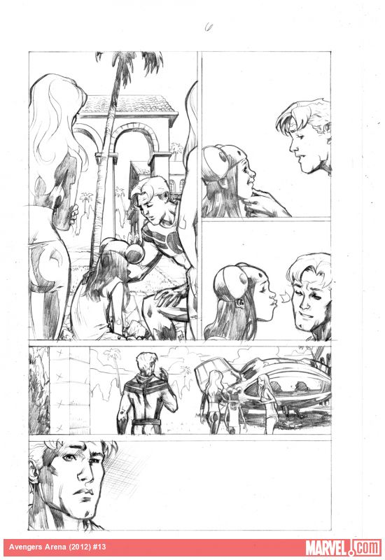 Avengers Arena Preview Pencils Karl Moline Apps Marvel