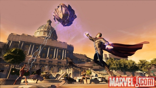Magneto and Spider-Man in Marvel: Ultimate Alliance 2
