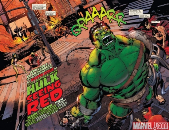 INCREDIBLE HULK #600, pages 2-3