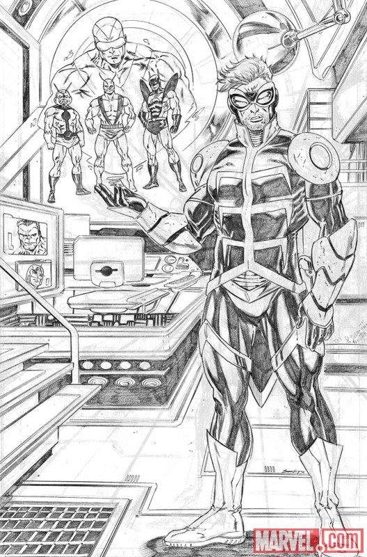 ANT-MAN & WASP #1 pencil art by Tim Seeley 1