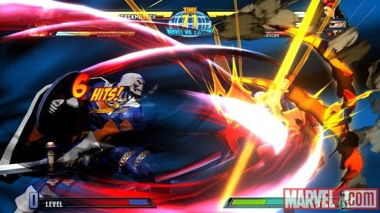 Marvel vs. Capcom 3 screenshot: Taskmaster vs. Crimson Viper