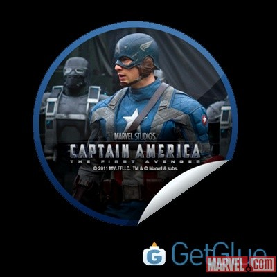 Captain America: The First Avenger GetGlue-exclusive digital sticker