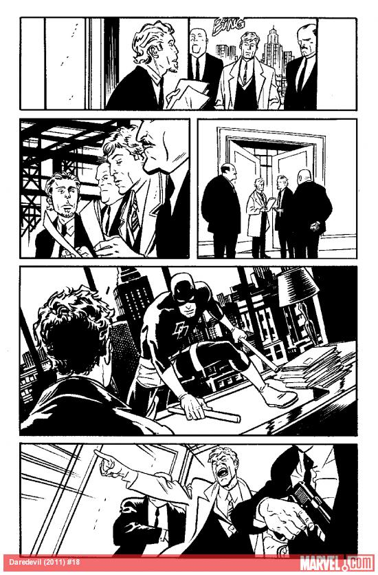 Daredevil (2011) #18 inked preview art by Chris Samnee