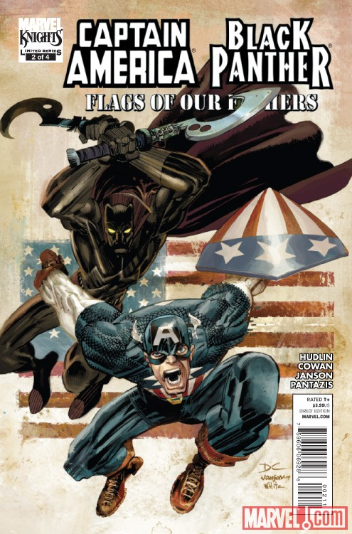 CAPTAIN AMERICA/BLACK PANTHER: FLAGS OF OUR FATHERS #2 cover by Denys, Janson and White