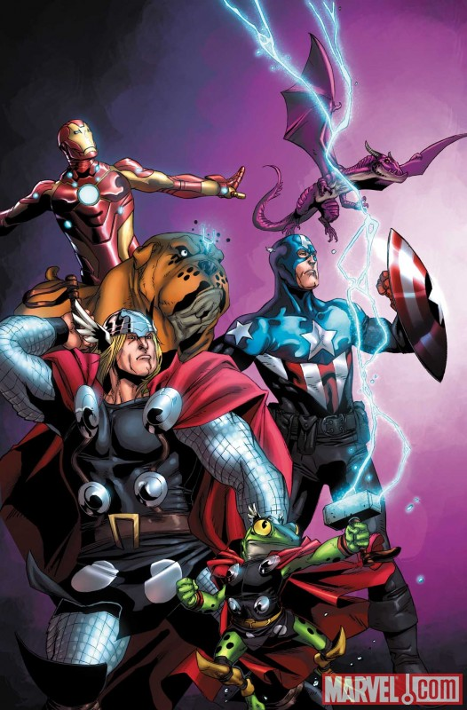 Image Featuring Frog Thor, Avengers, Iron Man, Lockheed, Lockjaw, Thor, The Winter Soldier