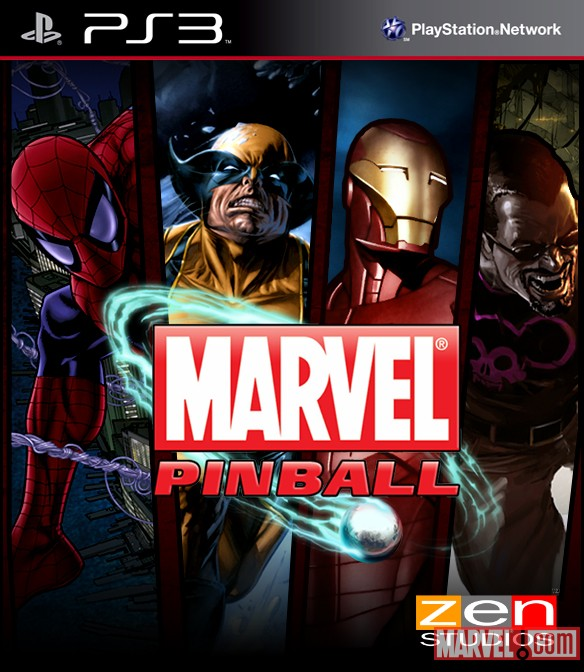Marvel Pinball PlayStation 3 Box Art