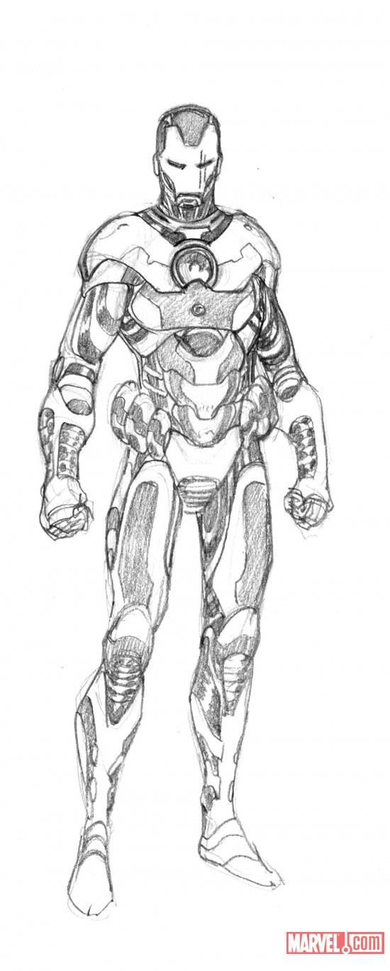 Iron Man War Machine Armor Sketch