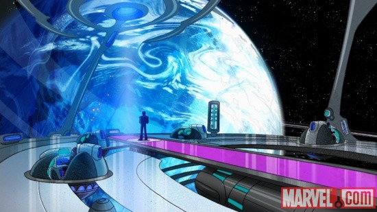 Kang overlooks Earth in The Avengers: Earth's Mightiest Heroes!