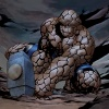 The Thing tries to lift Mjolnir