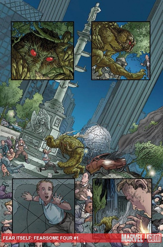 Fear Itself: Fearsome Four #1 preview art by Michael Kaluta