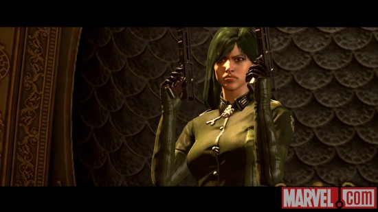 Screenshot of Madame Hydra in Captain America: Super Soldier