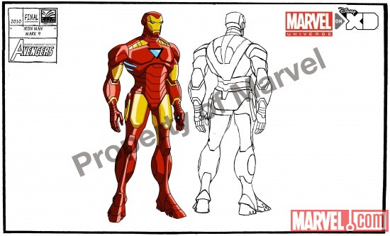 Iron Man's new costume from Season 2 of The Avengers: Earth's Mightiest Heroes!