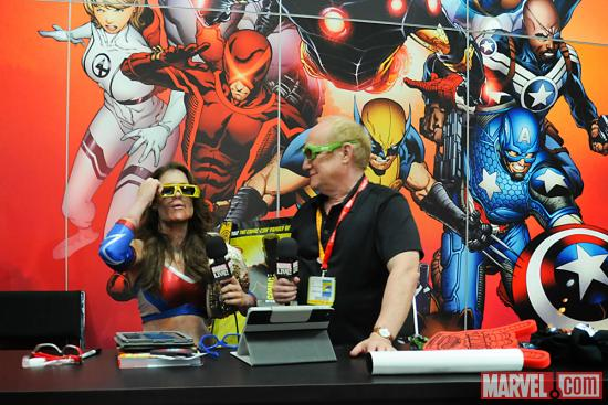 SDCC 2012: Miss Tessmacher at the Marvel Booth