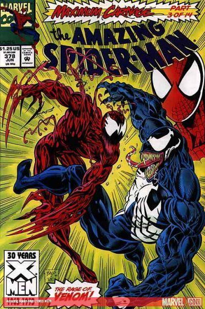 Amazing Spider-Man #378 cover by Mark Bagley