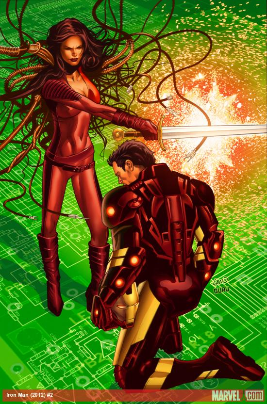 Iron Man (2012) #2 cover by Greg Land