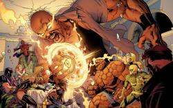Image Featuring Iron Fist (Danny Rand), Spider-Man, Thing, Wolverine, Captain Marvel (Carol Danvers), Avengers