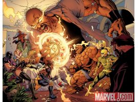 Image Featuring Thing, Wolverine, Captain Marvel (Carol Danvers), Avengers, Luke Cage, Iron Fist (Danny Rand)