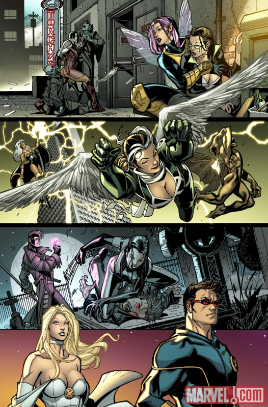 Image Featuring Cyclops, Emma Frost, Gambit, Rogue, X-23, X-Men