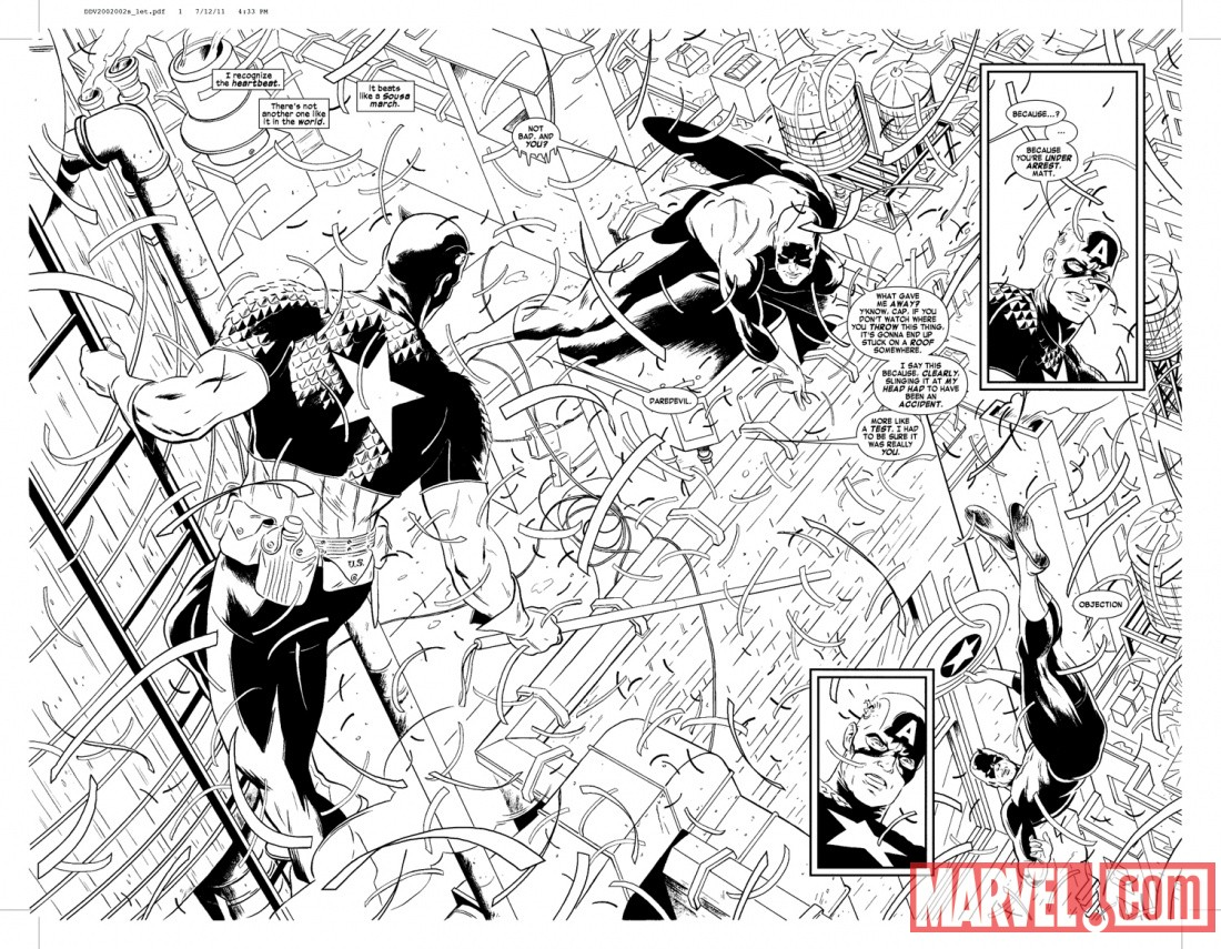 Daredevil #2 preview art by Paolo Rivera